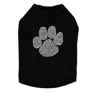 Paw - Rhinestone dog tank for large and small dogs.