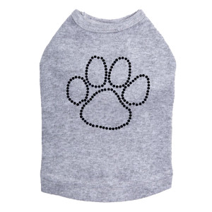 Paw - Black Nailheads dog tank for large and small dogs.