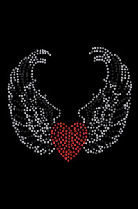 Heart with Wings #1 Adult T-shirt or Tank.