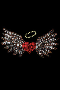 Heart with Wings & Halo Adult T-shirt or Tank.