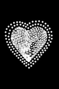 Sequin Silver Heart Adult T-shirt or Tank.