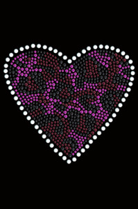 Fuchsia Leopard Heart Adult T-shirt or Tank.