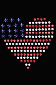 Patriotic Heart # 1 - Women's T-shirt