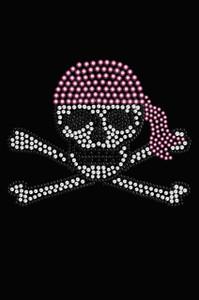 Skull with Pink Bandanna - Women's T-shirt
