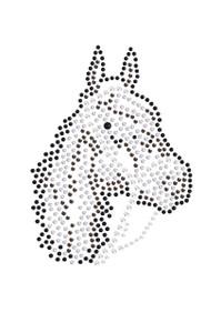 Horse Face (Brown Rhinestuds) - Women's T-shirt