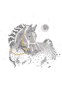 Horse with Stars & Moon - Women's T-shirt