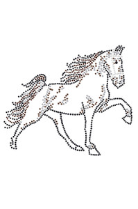 Horse (Brown Rhinestuds) - Women's T-shirt