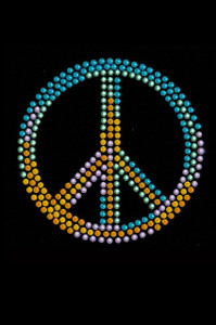 Peace Sign (Blue, Orange, Yellow, & Green) - Women's T-shirt