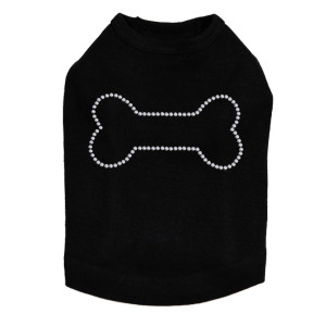 Bone - Rhinestud dog tank for large and small dogs.