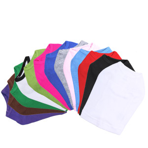 Our sleeveless tanks are made of a soft 100% cotton baby ribbed knit with a slightly tighter fit than the t-shirts.  Tanks are available in 13 colors and 9 sizes.