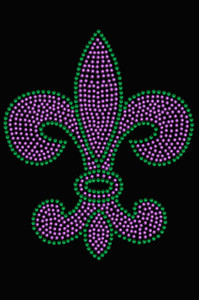 Fleur de Lis (Purple & Green) - Women's T-shirt