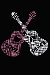 Guitars - Love & Peace  - Women's T-shirt