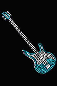 Guitar (Blue Swarovski) - Women's T-shirt