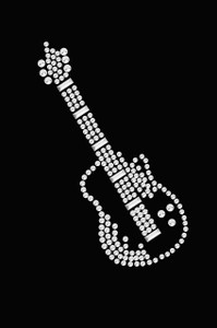 Guitar (Rhinestone) - Women's T-shirt