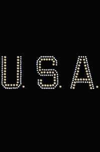 USA (Gold & Silver Nailheads) - Women's T-shirt