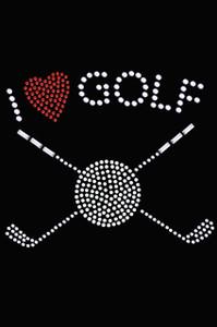 I Love Golf (Small) - Women's Tee