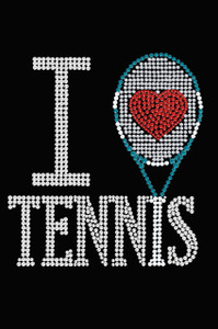 I Love Tennis - Women's Tee