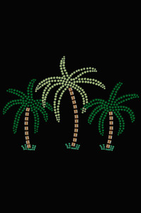Palm Trees (Green Rhinestones) - Women's T-shirt