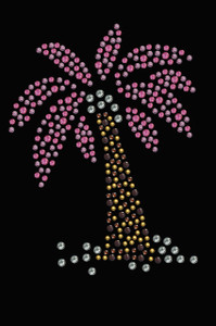Palm Tree (Pink) - Women's T-shirt