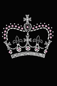 Crown #15 ( Pink, Silver & Clear) - Women's T-shirt