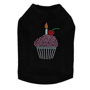 Cupcake rhinestone dog tank for large and small dogs.