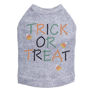 Trick or Treat with Candy Corn Dog Tank
