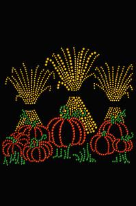Hay Stacks & Pumpkins - Women's T-shirt