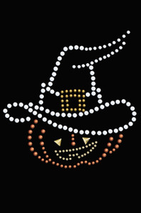 Pumpkin with Witch Hat - Women's T-shirt