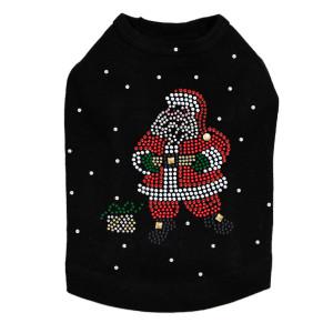 Santa with Snowflakes Dog Tank