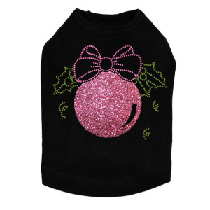 Pink Glitter Ornament - Black Dog Tank