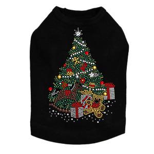 Christmas Tree #2 with Teddy Bear Dog Tank