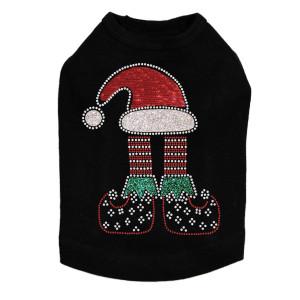 Christmas Elf - Black Dog Tank