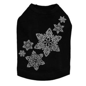 Rhinestone Snowflakes - Black Dog Tank