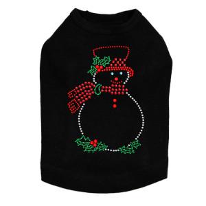 Snowman Outline - Black Dog Tank