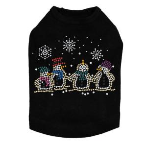 Snowman Family - Black Dog Tank