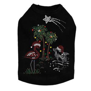 Tropical Christmas - Black Dog Tank