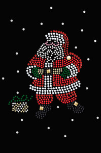 Santa with Snowflakes - Black Women's T-shirt