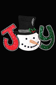 Joy Snowman - Black Women's T-shirt