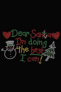 """Dear Santa I'm Doing the Best I Can"" - Black Women's T-shirt"