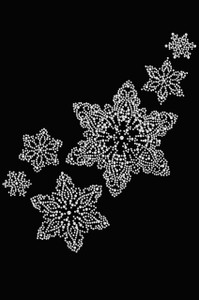 Rhinestone Snowflakes - Black Women's T-shirt