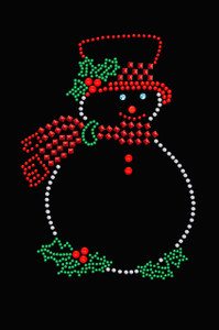 Snowman Outline - Black Women's T-shirt