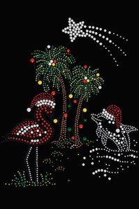 Tropical Christmas - Black Women's T-shirt