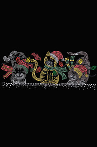 Christmas Cats - Black Women's T-shirt