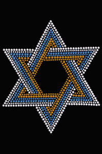 Star of David - Large (Blue, Silver, & Gold) - Women's T-shirt