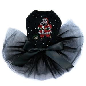Santa with Snowflakes  - Black Tutu