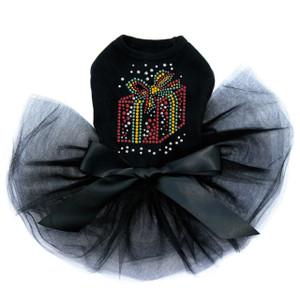 Red Christmas Gift  - Black Tutu