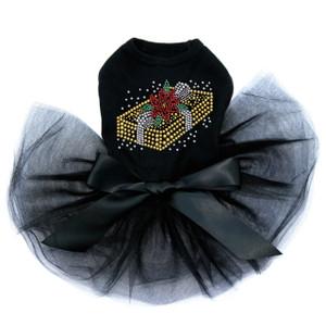 Gold Christmas Gift  - Black Tutu