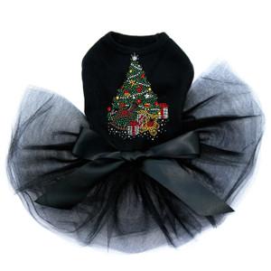 Christmas Tree #2 with Teddy Bear - Black Tutu