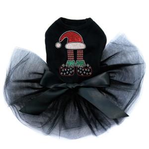 Christmas Elf  - Black Tutu