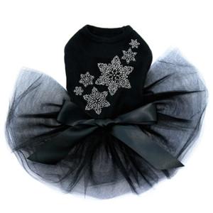 Rhinestone Snowflakes  - Black Tutu